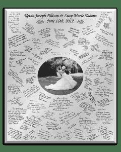 Mirror of Moments - Handwritten Wedding Guestbook in Mirror