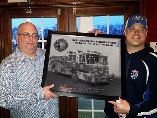 Philadelphia Fire department engine 46 - Battalion 13 - Retirement Gift Firefighter