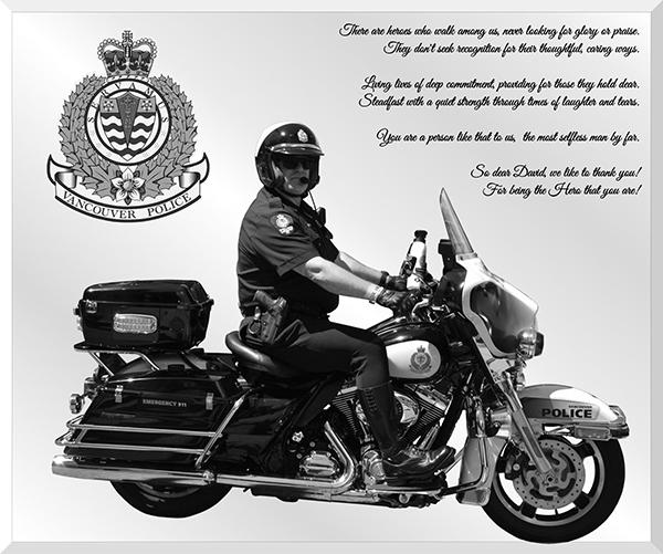 Police Retirement Gift Mirror