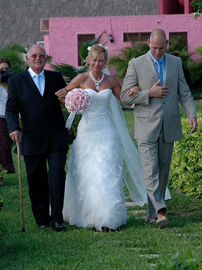 My Dad walked me down the aisle